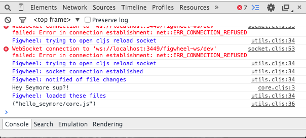 Figwheel messages in the console